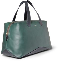 Paul Smith Leather Holdall Bag in Green for Men