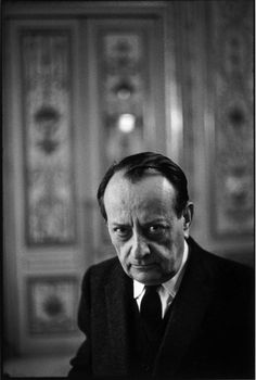 Henri Cartier-Bresson French writer, André MALRAUX, in his office as Cultural Minister. FRANCE. Paris. 1968