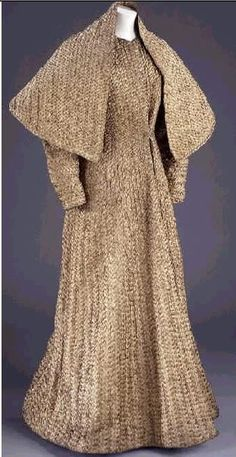 Schiaparelli, 1937. Hand-sewn plaited gilt braid. Who ELSE would have thought to do this, much less execute it?