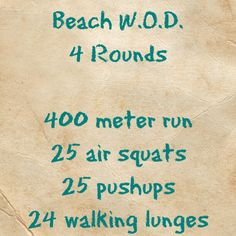 My older brother gave me this beach #WOD to do on the sand this weekend. #crossfit #NoVaca
