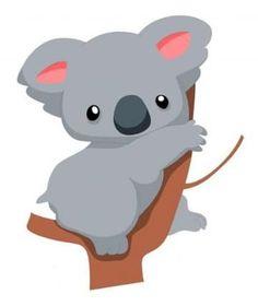 Wallmonkeys Wall Decals Not Applicable Wallmonkeys Cute Baby Koala Cartoon Peel Illustration Koala, Koala Baby, Image Deco, Cartoon Drawings Of Animals, Cartoon Images, Nursery Decals, Wall Decals, Australian Animals, Illustrations