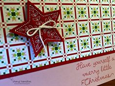 #SSINK Quilted Christmas Favorite Designer Series Paper - Create With CherylCreate With Cheryl