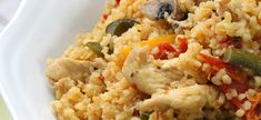 Poblano Chicken Bulgur is an easy recipe for healthy comfort food.