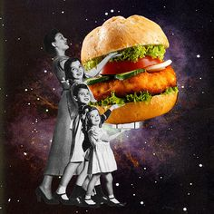 Collages, Surreal Collage, Surreal Art, Food Collage, Collage Artists, Photomontage, Eugenia Loli, Magazine Collage, Photography Collage