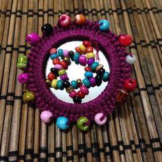 Dark purple brooch pin