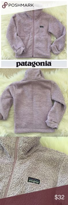 Patagonia Fleece Used condition (hence price) girls' XS lavender purple Patagonia fleece zip up jacket with mock neck. See photos for condition. Plenty of life left, freshly washed, and ready to go. Hope you enjoy 😘 Patagonia Jackets & Coats