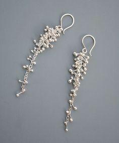 E311 sterling silver bubbles cluster drop earrings Rachel Wilder Handmade Jewelry E311 (74.00 USD) by rachelwilder
