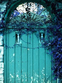Old aqua door. Just beautiful. by candi.reeder.1