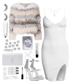 """M I L K"" by fauhxie ❤ liked on Polyvore featuring Cara Mila, Lapcos, Rodin, Giuseppe Zanotti, Yves Saint Laurent, Bobbi Brown Cosmetics, Byredo and Velour Lashes"