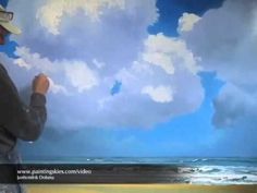 Painter Janhendrik Dolsma working on his oil painting 'North Sea Breakers'. A process of almost four weeks boiled down to a nine minutes video. www.paintings...