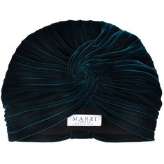 Marzi Ruched Velvet Turban (73.940 HUF) ❤ liked on Polyvore featuring accessories, hats, velvet turban, 1920s hat, velvet hat, marzi hats and turban hats