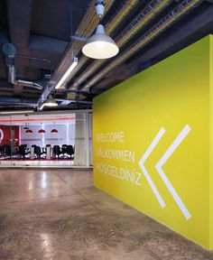 large graphics with bold colors Park Signage, Office Signage, Wayfinding Signage, Signage Design, Branding Design, Corporate Interiors, Corporate Design, Office Interiors, Architectural Signage