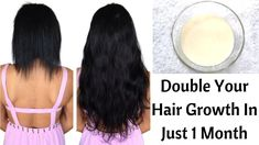 Hair Mask To Double Your Hair Growth In Just 1 Month | Get Extremely Long & Strong Hair - YouTube