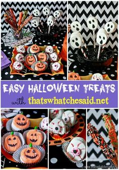 Easy #Halloween Treats at *thatswhatchesaid.net*!  Perfect to do with the kids!  #kidsactivities  #wiltonhalloween13 #spon