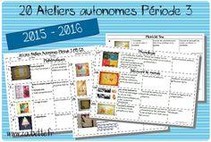 2015-2016 20 ateliers autonomes MS-GS pour la période 3