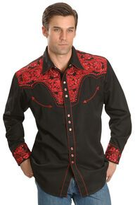Looking for Scully Men's Crimson Floral Embroidery Retro Western Shirt Big Tall - ? Check out our picks for the Scully Men's Crimson Floral Embroidery Retro Western Shirt Big Tall - from the popular stores - all in one. Cowboy Outfits, Western Outfits, Western Shirts, Vintage Embroidery, Embroidery Patterns, Floral Embroidery, Mexican Outfit, Retro, Shirts