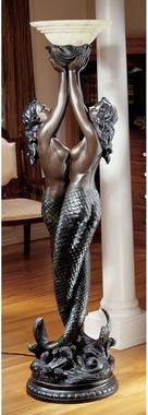 The Entwined Mermaids Sculptural Floor Lamp :: Design Toscano. Toscano has so much awesome stuff, and I already have a lot of bronzed mermaid statuettes that this is right up my alley. Mermaid Lamp, Art Nouveau, Mermaid Sculpture, Torchiere Floor Lamp, Art Deco Lamps, Mermaids And Mermen, Decoration, Bunt, Bronze