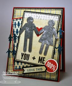 Document It - Off the Chart, Boy Meets Girl Die-namics, Heart STAX Die-namics, Accent It - Labels and Tabs Die-namics - Jenny Peterson Off The Charts, Boy Meets Girl, Valentine Day Cards, Teaser, You And I, Clever, Crafting, Stamp, Heart