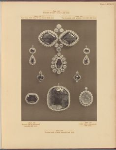 Imperial Romanov Jewels - The Russian Diamond Fund: Russia's Treasure of Diamonds and Precious Stones (Emerald sevigné, ear-rings, two pendants, brooch, pendant, and locket)
