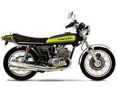 "Kawasaki 500 H1 ""Mach III"" (1973) This looks like the one I had in '83."