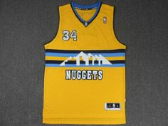 101e8a62bc7 denver nuggets nba 34 yellow javale mcgee jersey Cheap Football Shirts, Denver  Nuggets, Jersey