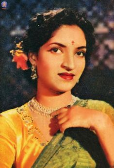 Sandhya is an Indian film actress. She is best known for her appearances in various Hindi and Marathi films directed by her husband V. Shantaram, in 1950s-1960s, most notably Jhanak Jhanak Payal Baaje (1955), Do Aankhen Barah Haath (1958) and Navrang (1959).
