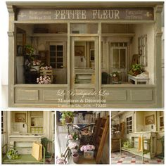 *♥ Atelier de Léa - Un Jour à la Campagne ♥*: Magasin de fleurs (version 2013 - suite) ─ La façade et le nom - perfect for house in the hall