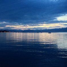 View from Peschiera of Lago di Garda, Veneto, IT