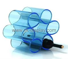 Acrylic flower shape wine display stands WD-028