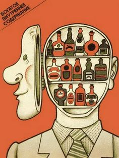 """""""You drink so much, your head is a liquor cabinet comrade!"""" - Soviet 1960's"""