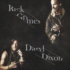Rick Grimes & Daryl Dixon. TWD. The Walking Dead. Season 5. Badass Brothers! Terminus.
