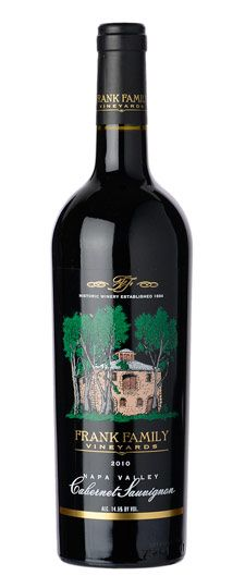 Frank Family Vineyards Napa Valley Cabernet Sauvignon has dark garnet hues and rich scents of black fruit and cedar. Though the wine is fruit-forward with intense cassis, plum and blackberry flavors, it is balanced with notes of tobacco, spice, and a solid structure for length on the palate, finishing with dark chocolate.