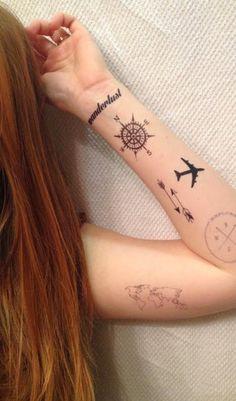 Tatuajes de viajes, por qué viajar y 70 ideas originales