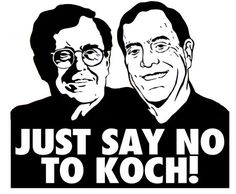 This listing is for one high quality vinyl Just Say No To Koch! sticker, for your laptop, car, truck, van, mirror, window, binder, cat, dog, or whatever needs stickering.  Each sticker is approximately 3.5 x 3 inches. The sticker is in stencil style black and white as seen in the photograph.  These vinyl stickers are long lasting, color-fast, weather durable, look great on a variety of surfaces, and are easy to remove. This is a custom cutout sticker, and not a printed sticker on a clear…