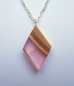 Wooden pendant nature pendant resin necklace wooden by ForestFuzz