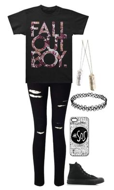 """Untitled #1109"" by xxghostlygracexx ❤ liked on Polyvore featuring Miss Selfridge, Retrò and Converse"
