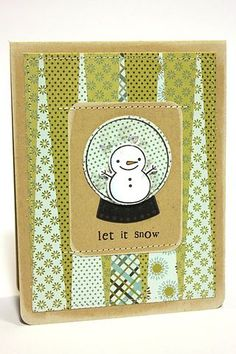 Let It Snow Card by Heather Nichols for Papertrey Ink (September 2012)