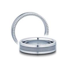 Shop online VERRAGIO 6N06 Plain White Gold Mens Wedding bands at Arthur's Jewelers. Free Shipping