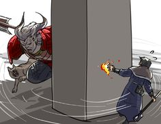 Accurate depiction of Arishok battle in Dragon Age 2. By http://dakkun39.tumblr.com