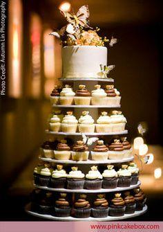 Wedding, Cupcake, Wedding cake, Tower - cupcake wedding tower inspirat