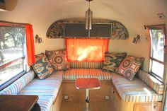 Vintage Airstream Trailer Remodel eclectic-