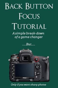 Beginner photography tutorial on back button focus. Learn to use back button focus. A great skill for beginner photographers. Dslr Photography Tips, Photography Lessons, Photography For Beginners, Photography Tutorials, Photography Business, Digital Photography, Photography Equipment, Landscape Photography, Photography Backdrops