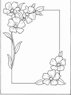 Hand Embroidery and Its Types - Embroidery Patterns Page Borders Design, Border Design, Flower Patterns, Flower Designs, Flower Borders, Drawing Borders, Doodle Borders, Doodle Patterns, Pattern Drawing