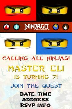 Free Printable: Lego ninjago invite EXAMPLE