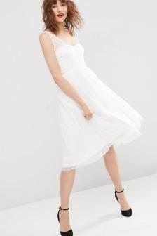 vestido de novia civil lunares $ 60.000