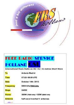 QSL Free Radio Service Holand