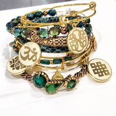 Exclusive. New. Must Have. ✨✨ The Night's Mosaic Collection is the perfect touch of glitz and glamour for your holiday arm candy! Don't miss out on these limited bangles! @alexandani