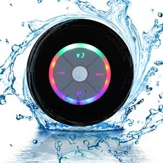 Amazon.com: Waterproof Portable Shower Bluetooth 4.0 Speakers Subwoofer by Exkokoro(TM), Colorful LED Effect, Strong Adhesion, Hands-free Calls for Smartphone all Bluetooth Device(Black): Cell Phones & Accessories   @giftryapp