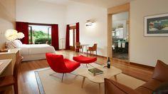 Modern designed suites overlooking the vineyards