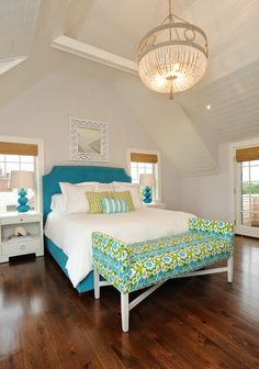 turquoise + lime bedroom | Nina Liddle Design